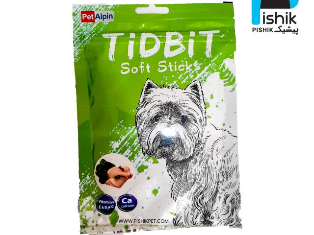 غذای تشویقی سگ تیدبیت مدل Chicken & Vegetablesوزن ۷۰ گرم مرغ و سبزیجات TIDBIT