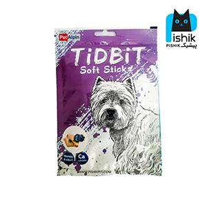 غذای تشویقی سگ تیدبیت مدل Chicken & Blueberry وزن ۷۰ گرم طعم مرغ و بلوبری TIDBIT