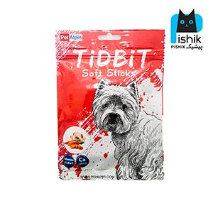 غذای تشویقی سگ تیدبیت مدل Chicken & Carrot وزن ۷۰ گرم طعم مرغ و هویج TIDBIT