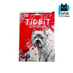 غذای تشویقی سگ تیدبیت مدل Beef وزن ۷۰ گرم طعم گوشت بیف TIDBIT