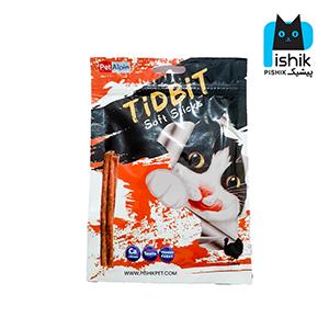 غذای تشویقی گربه تیدبیت مدل Turkey وزن ۷۰ گرم طعم بوقلمون TIDBIT