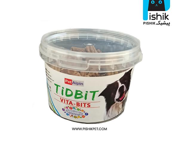 مکمل غذایی و تشویقی سگ تیدبیت مدل VITA-BITS وزن 180 گرم TIDBIT