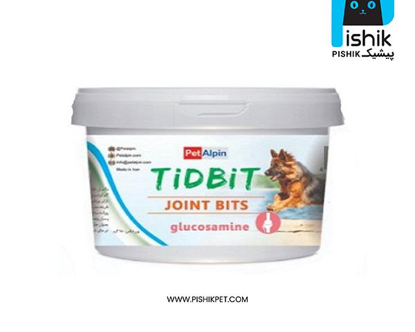 مکمل غذایی و تشویقی سگ تیدبیت مدل JOINT BITS وزن 180 گرم TIDBIT
