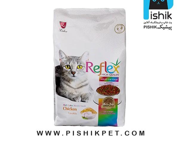 غذای خشک گربه رفلکس مدل Multi Color بسته ی یک کیلوگرمی فله مدل مولتی کالر