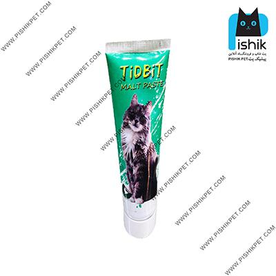 خمیر مالت گربه تیدبیت مدل CHICKEN وزن 110 گرم با طعم مرغ TIDBIT