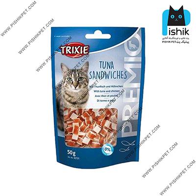 غذای تشویقی گربه تریکسی مدل Tuna Sandwiches وزن 50 گرم TRIXIE