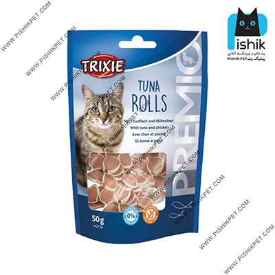 غذای تشویقی گربه تریکسی مدل Tuna Rolls وزن 50 گرم TRIXIE