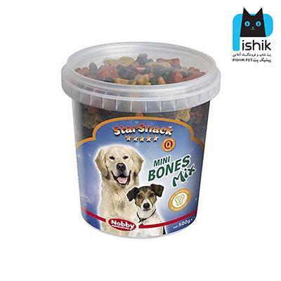 غذای تشویقی سگ نوبی MINI BOONES MIX استخوانی 500 گرمی