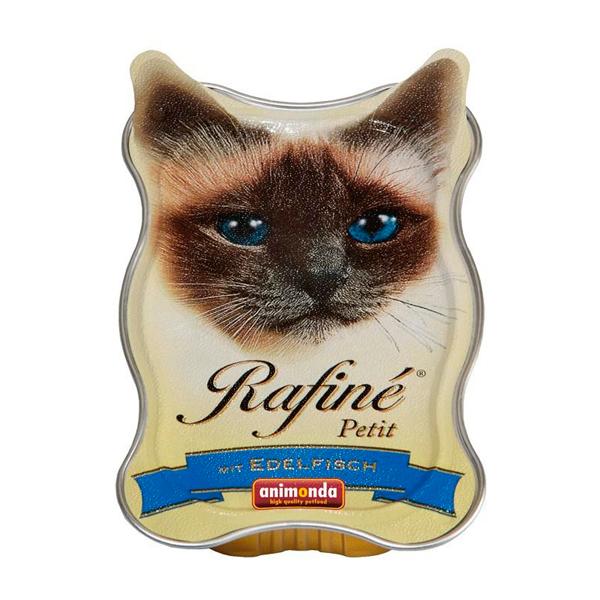 •پوچ ووم گربه رافینه پتیت حاوی پته گوشت ماهی-85گرم