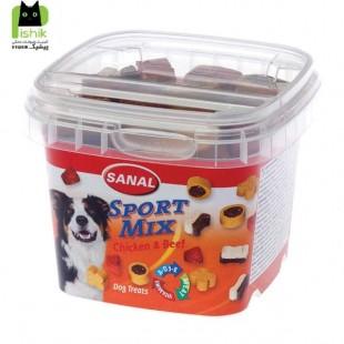 تشویقی و مکمل غذایی کاسه ای برای سگ های فعال با طعم گوشت مرغ و گوساله