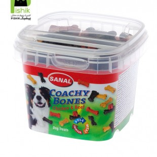 تشویقی و مکمل غذایی استخوانی نرم کاسه ای سگ سانال هلند با با طعم کوشت گوساله و مرغ