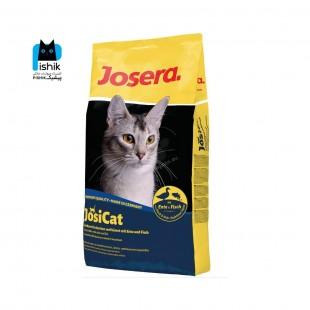 غذای خشک گربه بالغ، با طعم اردک و ماهی، ۱۰ کیلوگرمی، مدل جوسی کت، برند جوسرا