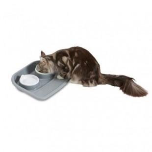 ظرف غذای دوتایی سینی دار سگ و گربه، مدل باتلر، برند ساویک