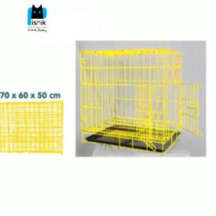قفس نگهداری حیوانات تاشو دارای دو درب