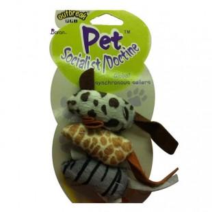 اسباب بازی گربه موش پارچهای سه تایی