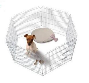 پارک سگ استیل دردار 60*60 شش ضلعی استیل
