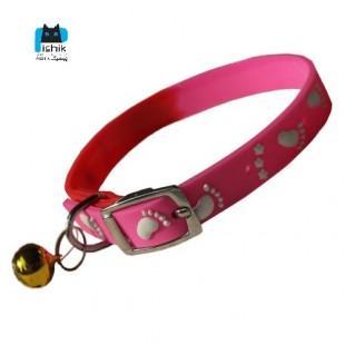 قلاده گردنی ژلاتینی طرح پنچه ستاره زنگوله دار مخصوص گربه و سگ های کوچک