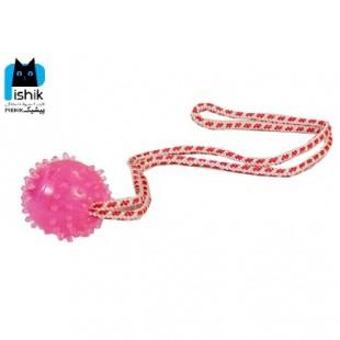 توپ آموزشی طناب دار سایز small برند Dog Toy