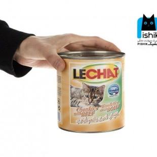 کنسرو چانک لچت گربه با طعم های مختلف، وزن 820 گرم