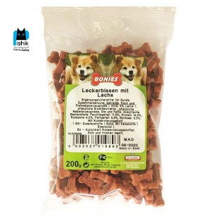 تشویقی سگ دکتر آلدرز حاوی گوشت سالمون وزن 200 گرم