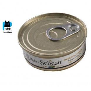 کنسرو غذای گربه شسیر  Tuna Natural Style با طعم ماهی تن طبیعی وزن 50 گرم