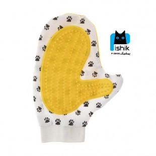 دستکش ماساژ و مو جمع کن، مخصوص سگ و گربه