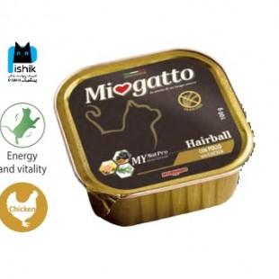 خوراک سوپر پریمیوم Miogatto هیربال مرغ
