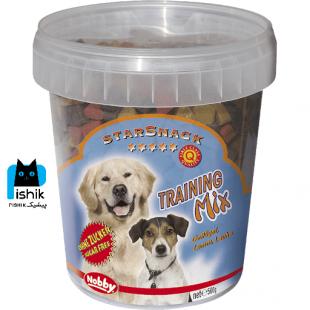 تشویقی سگ نوبی مدل Training mix طرح قلب وزن 500 گرم