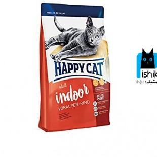 غذای هپی کت مخصوص گربه های بالغ سوپر پریمیوم با طعم گوشت گوساله 1.4 کیلوگرمی