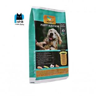 غذای خشک سگ PUPPY & JUNIOR مفید سوپر پریمیوم وزن 10 کیلوگرم