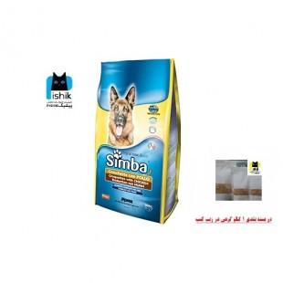 غذای خشک سیمبا سگ با طعم مرغ 1kg با کیفیت پریمیوم بصورت فله در بسته بندی زیپ کیپ