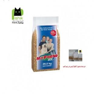 غذای سگ مای فرند بوش یک کیلوگرمی با کیفیت پرمیوم مخصوص سگ های بالغ کلیه نژادها بصورت فله در بسته بندی زیپ کیپ 1 کیلوگرمی My Friend