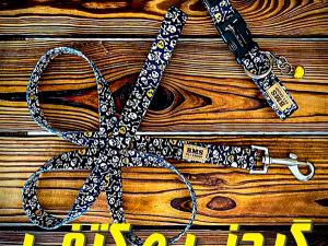 ست قلاده کتفی و گردنی زنگوله دار فانتزی سگ BMS کد 004