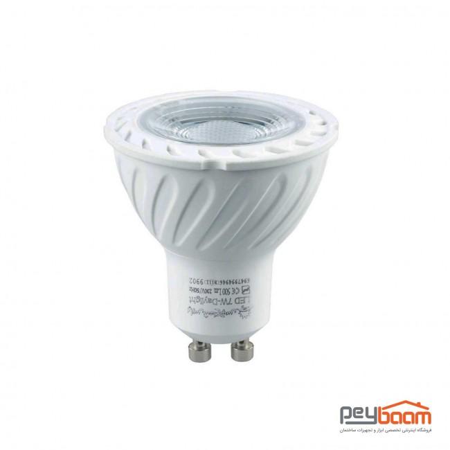 لامپ هالوژن ال ای دی 7 وات پارس شعاع توس پایه GU10