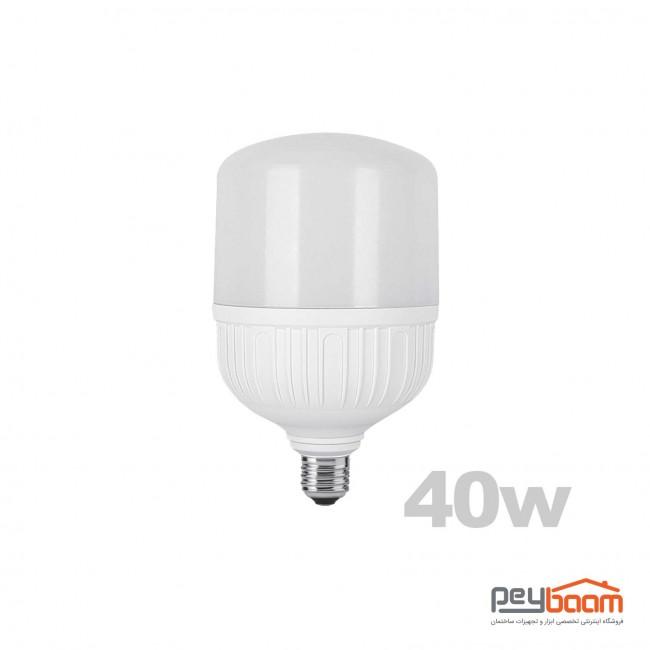لامپ ال ای دی استوانه ای 40 وات پارس شعاع توس پایه E27