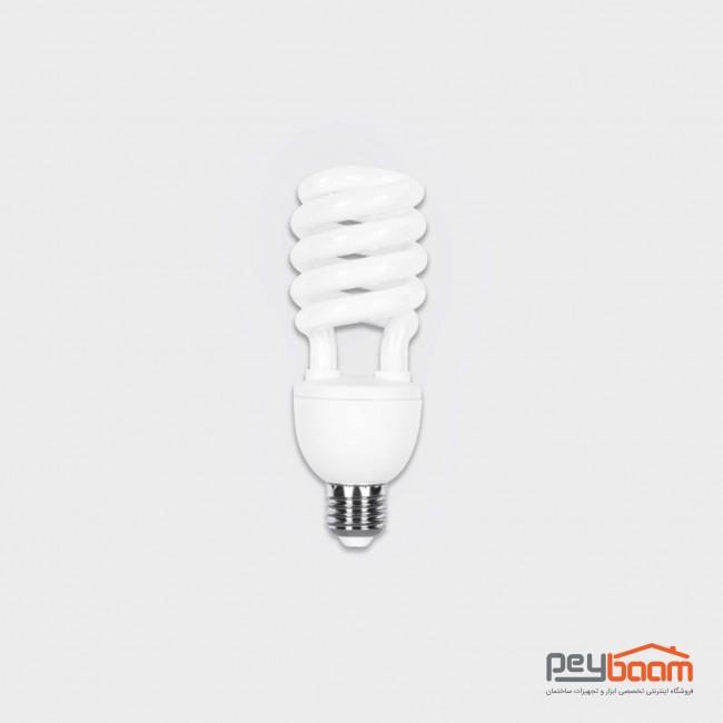لامپ کم مصرف 25 وات پارس شعاع توس مدل نیمه پیچ پایه E27
