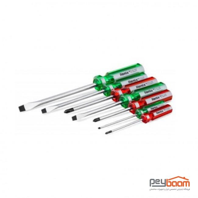 مجموعه 7 عددی پیچ گوشتی رونیکس مدل RH-2702