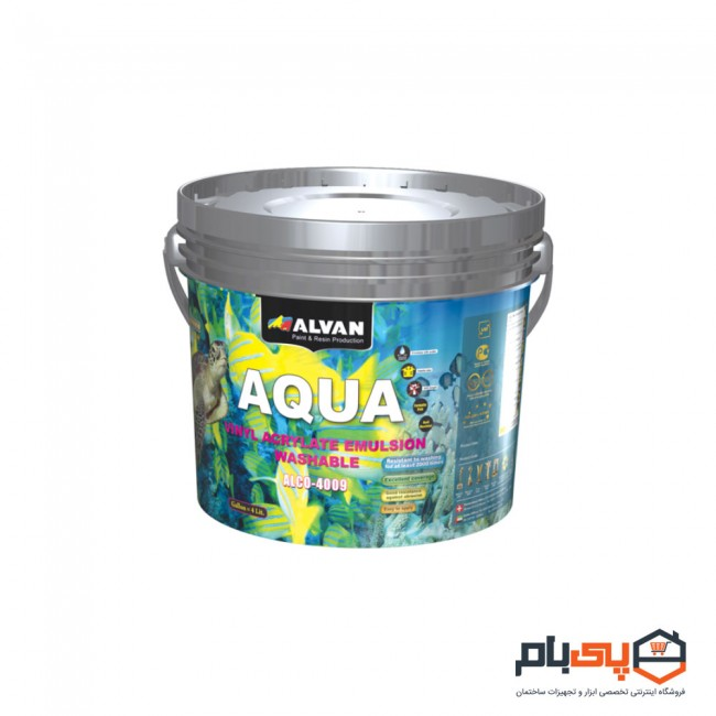 پوش رنگ تمام پلاستیک مات الوان مدل ALCO-4009 حجم 2.5 گالن