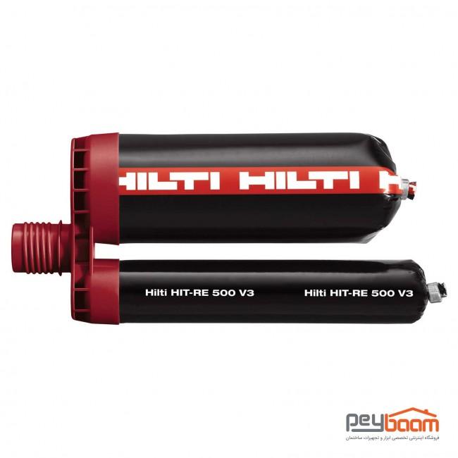 چسب کاشت میلگرد و بولت هیلتی مدل HIT-RE 500 V3