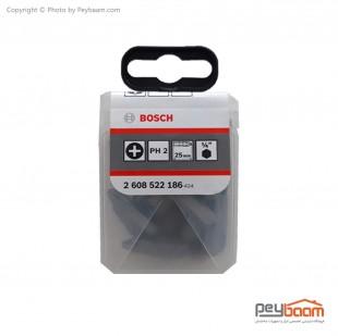 سری پیچ گوشتی چهارسو بوش مدل 2608522186 بسته 25 عددی