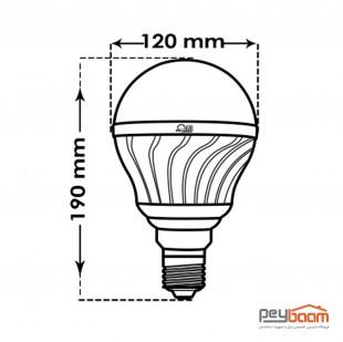 لامپ ال ای دی حبابی 40 وات پارس شعاع توس مدل BULB پایه E27