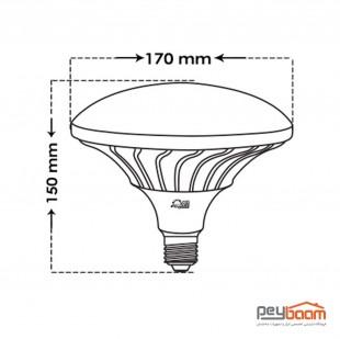لامپ ال ای دی قارچی 40 وات پارس شعاع توس مدل MUSHROOM پایه E27