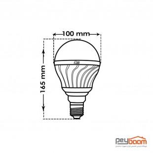 لامپ ال ای دی حبابی 25 وات پارس شعاع توس پایه E27