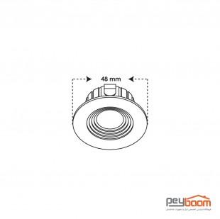 پنل ال ای دی 3 وات دایره ای پارس شعاع توس مدل چشمی COB