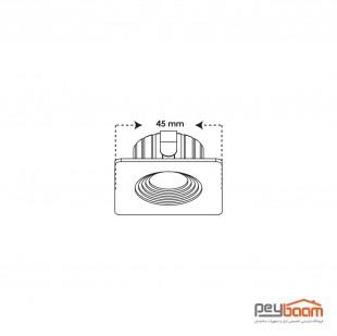 پنل ال ای دی 3 وات مربعی پارس شعاع توس مدل چشمی COB