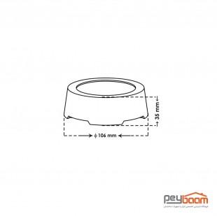 پنل ال ای دی 8 وات روکار پارس شعاع توس مدل آویسا