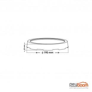 پنل ال ای دی 18 وات روکار پارس شعاع توس مدل آویسا