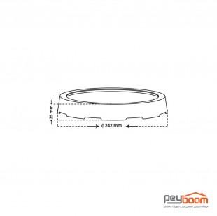 پنل ال ای دی 24 وات روکار پارس شعاع توس مدل آویسا