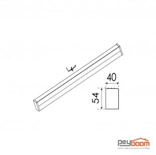 چراغ خطی ال ای دی 40 وات پارس شعاع توس مدل سها طول 60 سانتی متر