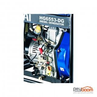 موتور برق دیزلی هیوندای مدل HG6553-DG